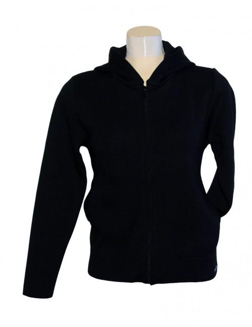 Blouson laine Brise-lames à capuche Marina bleu marine