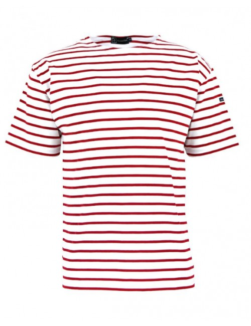 Tshirt rayé Armor-lux blanc/rouge Théviec