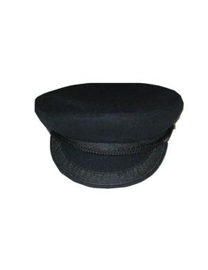 casquette de marin en drap de laine bleu marine