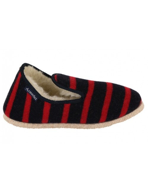 chaussons Armor-lux marine et rouge