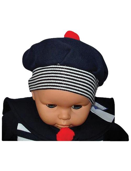 Béret bachi enfant et bébé bleu marine
