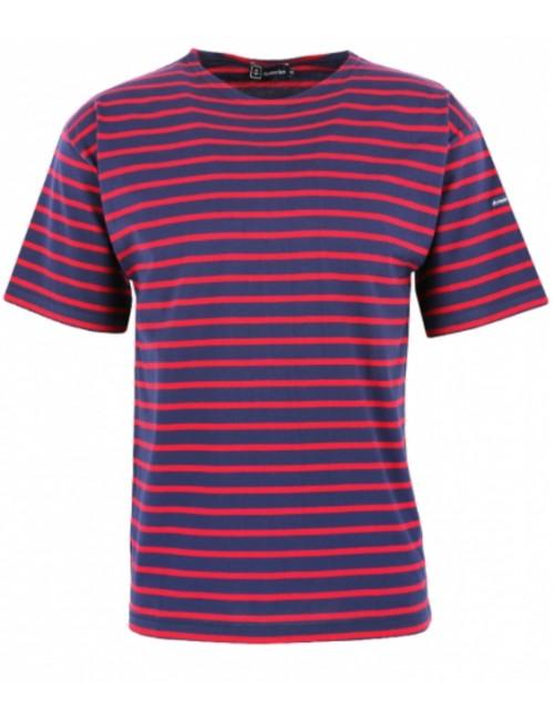 T-shirt Armor-lux Théviec marine rouge