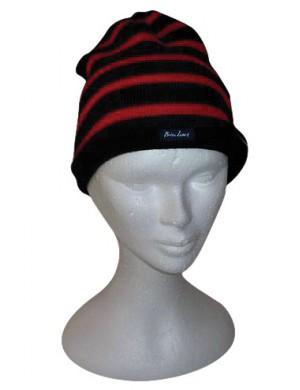 Bonnet Brise-lames laine marine/rouge