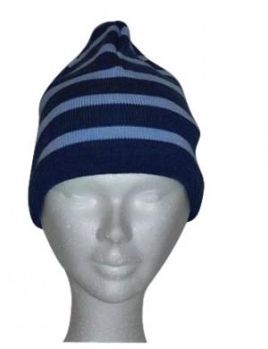 Bonnet  Brise-lames laine jean/ciel