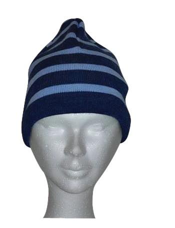 Bonnet jean/ciel en laine Brise-lames