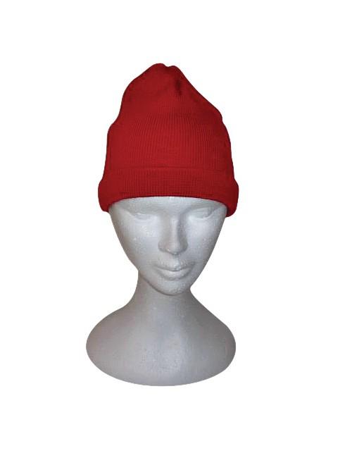 Bonnet rouge en laine Brise-lames