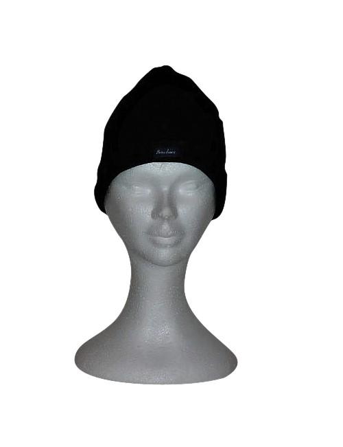 Bonnet noir en laine Brise-lames