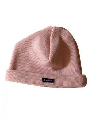 Bonnet bébé laine rose