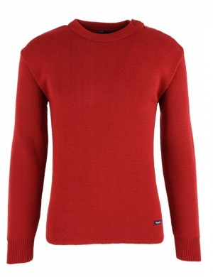 pull marin fouesnant rouge