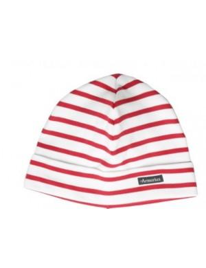 Bonnet armor lux blanc/rouge