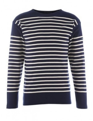Marinière Amiral Armor-Lux homme 1140 navy/blanc