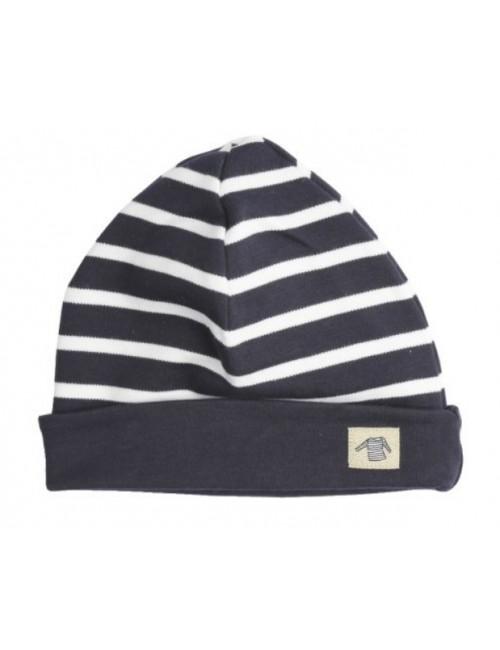 Bonnet bébé Armor-lux coton marine/blanc