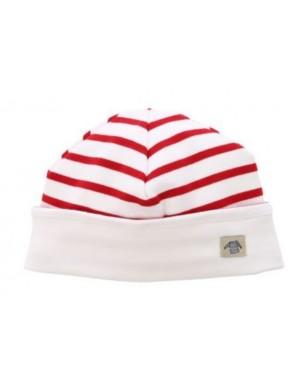 Bonnet enfant réversible Armor-lux blanc/rouge