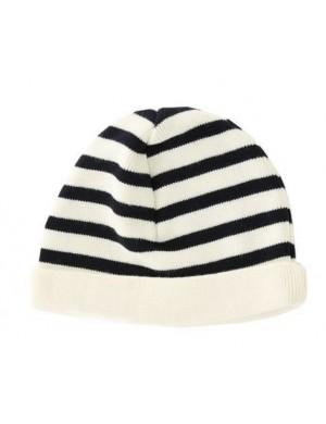 Bonnet pure laine Armor-lux écru/marine