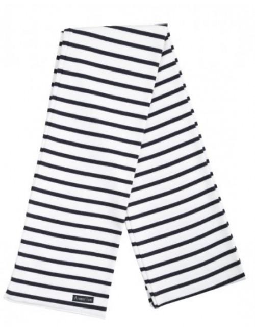 écharpe Armor-lux en coton blanc/marine