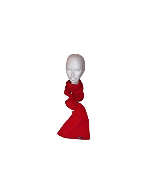 Echarpe en laine Brise-lames rouge