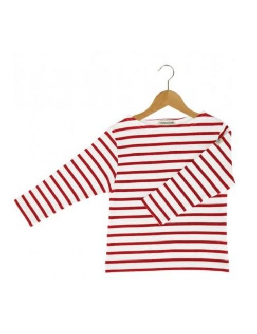 Marinière enfant Armor-lux blanc/rouge