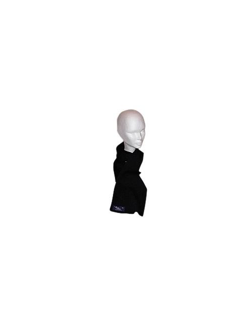 Echarpe en laine brise-lames noir