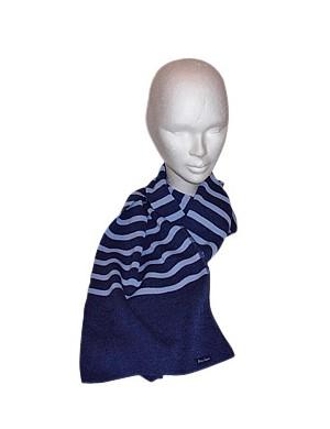 écharpe en laine Brise-lames jean/ciel