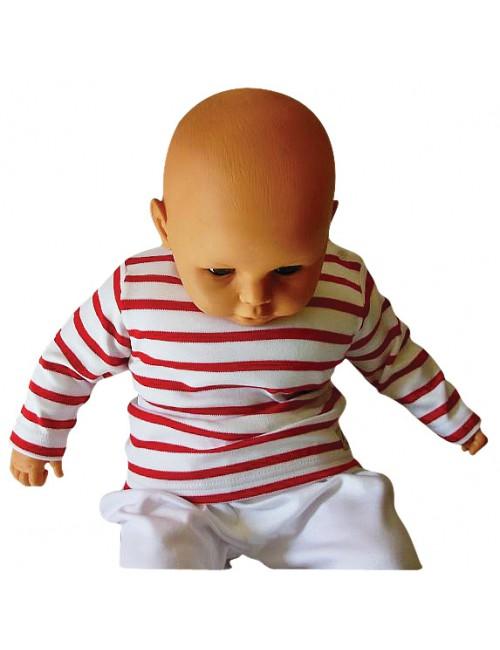 Marinière bébé Armor-lux blanc/rouge