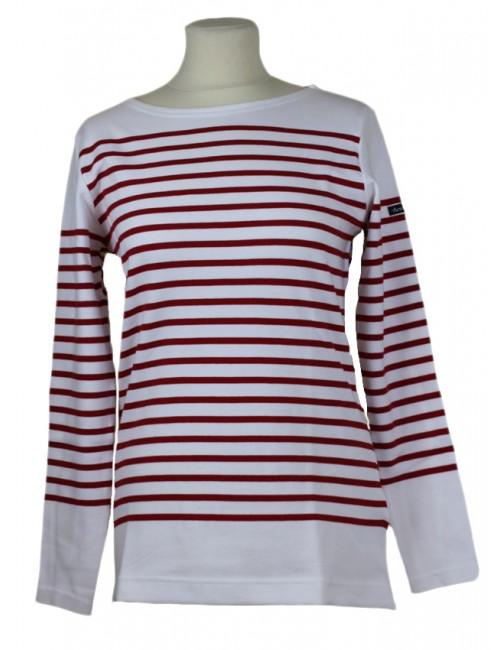 Marinière Amiral Armor Lux femme blanc/rouge