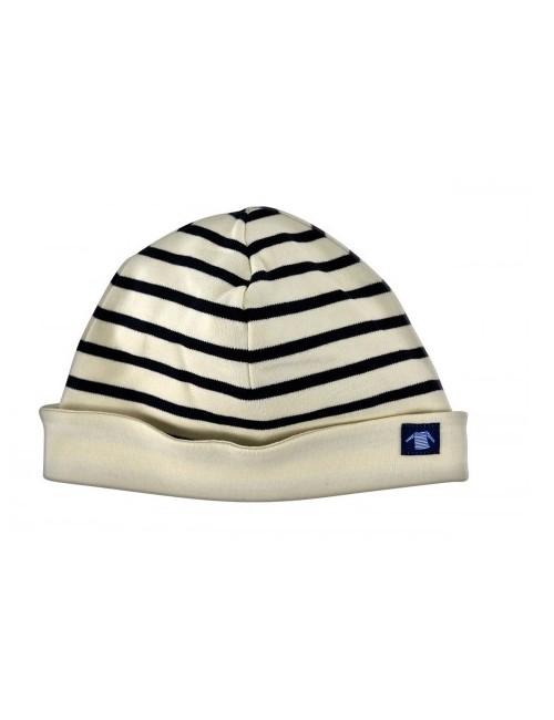 Bonnet enfant réversible Armor-lux écru/marine