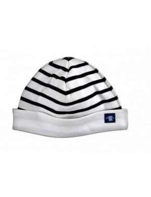 Bonnet enfant réversible Armor-lux blanc/marine