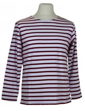 Marinière coton épais rayé blanc et rouge