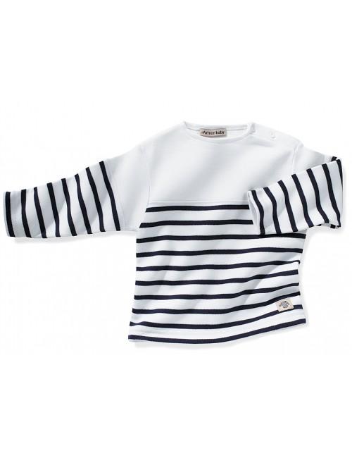 Marinière bébé Armor-lux blanc/marine