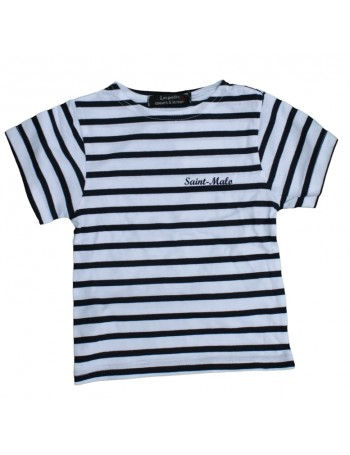 Tshirt enfant Saint Malo rayé blanc/marine
