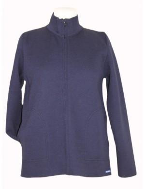 Blouson Louane pure laine Brise-lames bleu marine