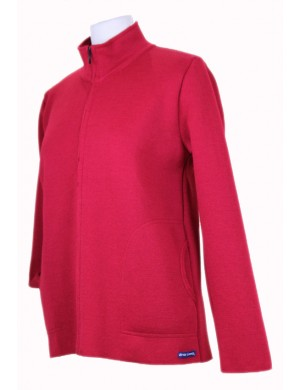 Blouson Louane pure laine Brise-lames rouge