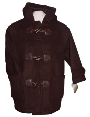 Duffle-coat enfant teddy marron