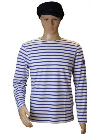 Marinière coton blanc/bleu étoile traditionnel Brise-lames mannequin homme