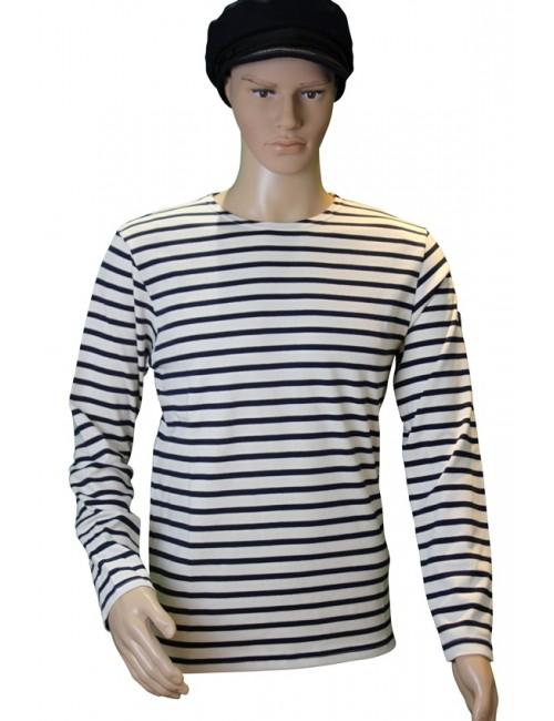 Marinière coton écru/bleu marine traditionnel Brise-lames mannequin homme