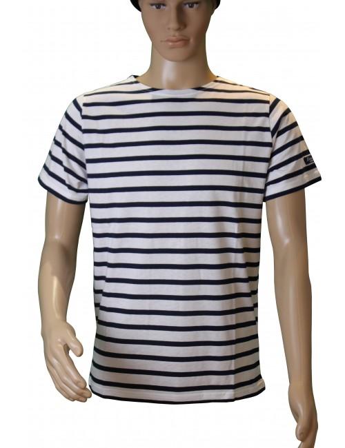 Tshirt Brise-lames Fregate manches courtes blanc/marine