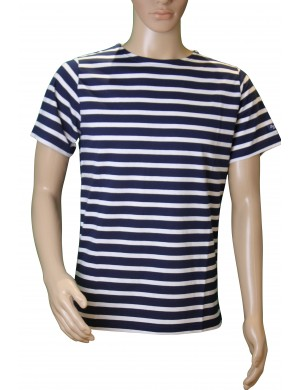 Tshirt Brise-lames Fregate manches courtes marine/blanc