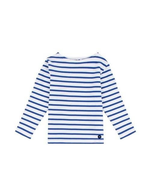 marinière enfant Armor-lux blanc/bleu étoile
