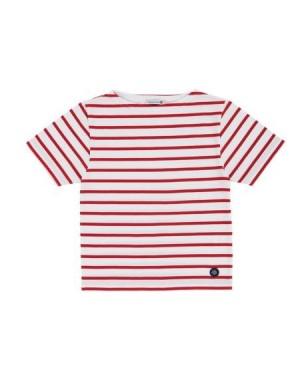 Tshirt enfant rayé blanc/rouge Armor-kid