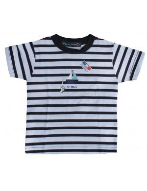 Tshirt enfant rayé bateau