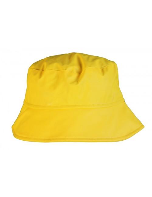 Chapeau de pluie imperméable jaune