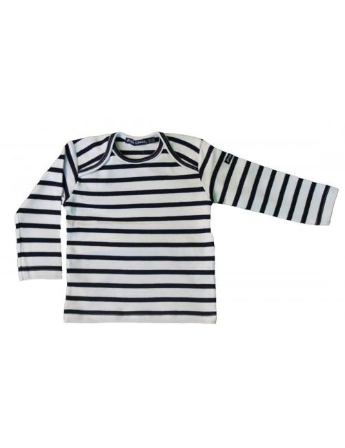 Marinière layette bébé brise-lames blanc/marine