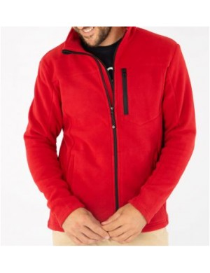 Polaire Bermudes homme Permy rouge