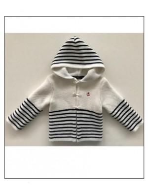 gilet bébé audenge blanc/marine