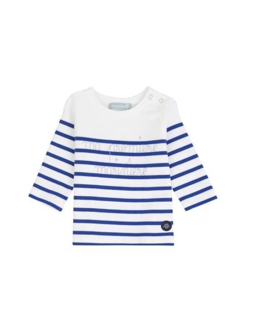 Marinière bébé Armor Lux ma 1ère marinière blanc/bleu étoile