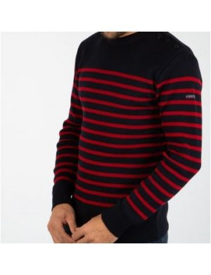 Pull Paimpol Armor-Lux marine/rouge