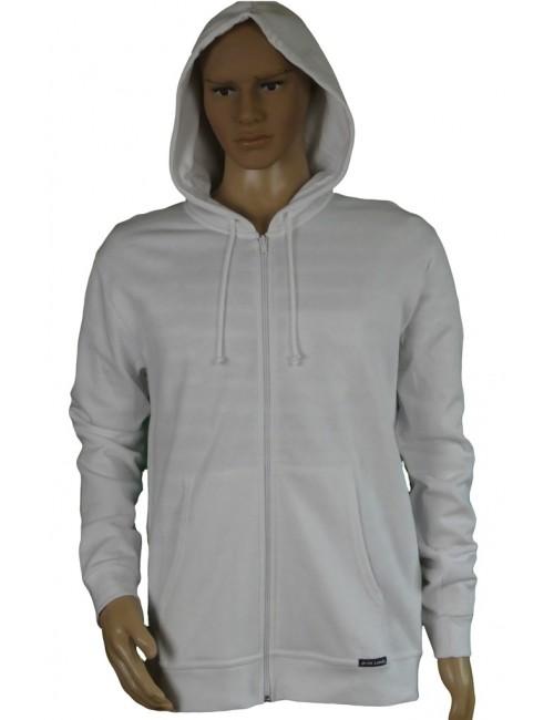 """Sweat zippé avec capuche blanc """"sabord"""""""