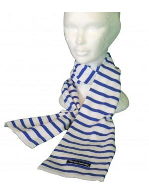 Echarpe Adulte Brise-Lames coton rayé blanc/roy