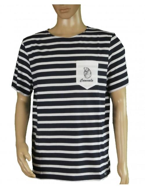 Tshirt Brise-lames Fregate manches courtes blanc/rouge