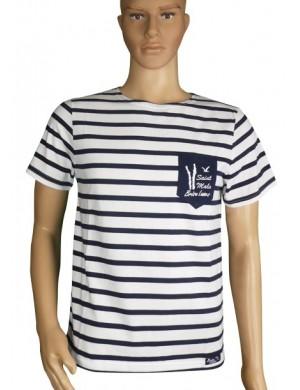 Tshirt Brise-lames Fregate poche St Malo